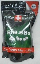 BioBBs 0,25g/4000stk/weiß - Swiss Arms /6mm