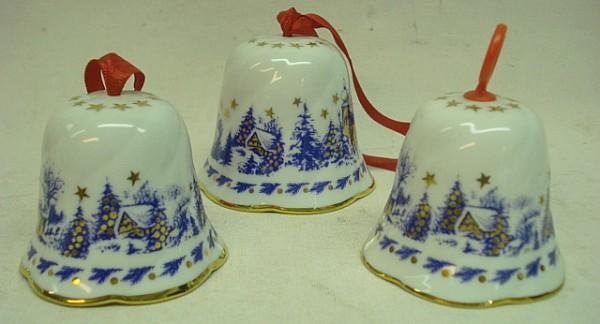 Glockensatz Dorf - 3-er Set, aus Porzellan