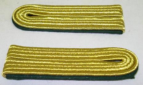 Schulterstück 4 streifig - goldfarbiges Metallgespinst