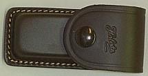 Lederetui braun - Heftlänge 9 cm