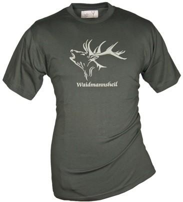 Rundhals Shirt Waidmannsheil - Material: 100% Baumwolle