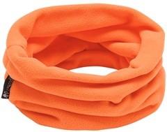 Nackenwärmer in Orange aus Fleece, für die Kalten Tage, Halsschutz, Windschutz