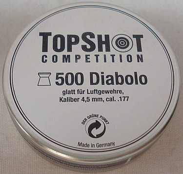 Topshot Competition 4,50mm - glatt, 500 Stück