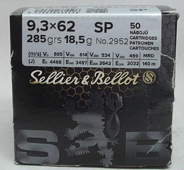9,3x62 TM - 18,5g/285gr (a50)