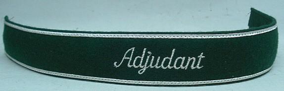 Ärmelstreifen mit silberner - Aufschrift Adjudant
