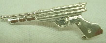 Abzeichen Pistole silber -
