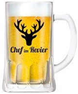 Bierkrug ''Chef im Revier'' - 6-er Set, 0,5Liter