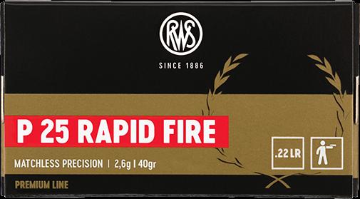 .22l.r P25 RAPID FIRE - 2,6g (a50)