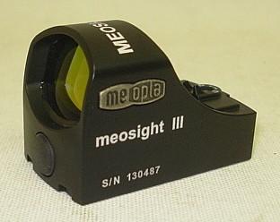 Meopta Meosight III Rotpunktvisier Leuchtpunktgröße 3,0 Dot mit 8 Helligkeitsstufen Abschaltautomatik