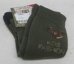 KOS Strumpf - mit Widderkopf-Stickerei