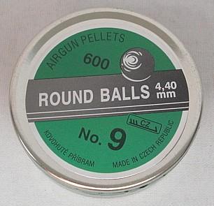 Punktkugeln Blei 4,40mm - Nr.9 (a600)