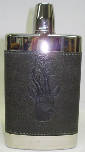 Cognacflasche 250ml - Prägung Rehbock, PVC