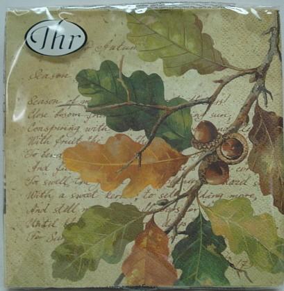 Servietten Herbst bunt - 20stk,33x33cm,3-lagig