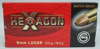 9mmLuger Hexagon - 8,0g/124gr (a50)