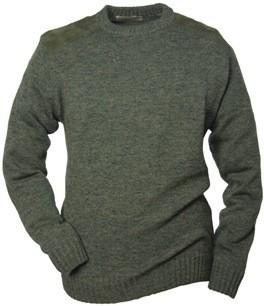 Pullover Rundhals - aus Strick mit Besätzen