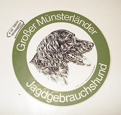 Aufkleber Großer Münsterländer -