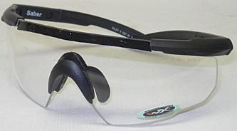 WileyX BrilleSaber Advanced R - schwarzer Rahmen/transparent