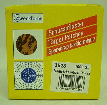 Schusspflaster Fuchs alt - 16mm, rot