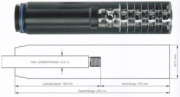 SOB 2S Silencer 7,62mm(.30) - M15x1, Schießkino, OV
