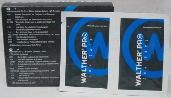 Walther Pro Wipe & Care - Pflege & Reinigungstücher 10