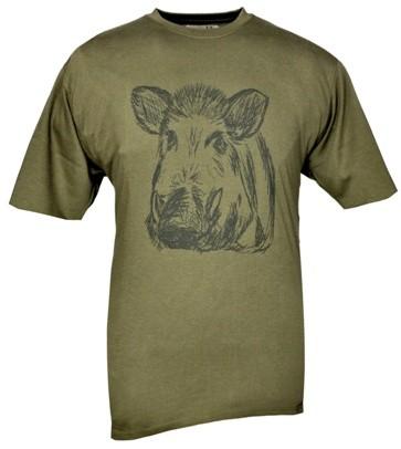 Kinder Shirt - Aufdruck Keilerkopf